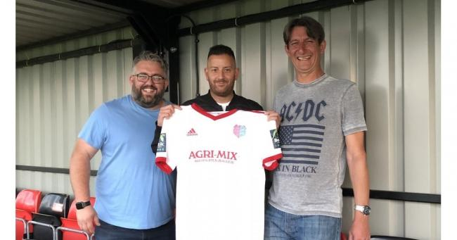 Welcome aboard: New Regent reserves coach Stuart Malseed with manager Lee Clarke (left) and R's chairman Terry Doherty.