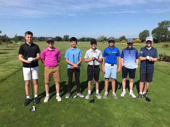 Rising stars: Clacton's juniors competed for the Sandie Rudkin Cup.