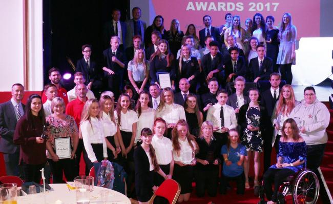 Glitzy - the Tendring Sports Awards winners in 2017
