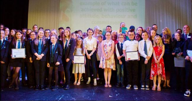 Glitzy cermony: Winners of the Tendring Youth Awards