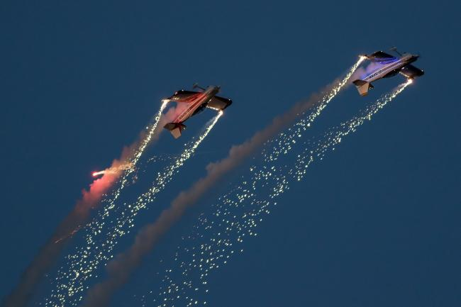 Sky high: The Fireflies at last year's Clacton Airshow. Picture: Paul Johnson