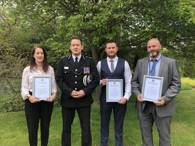 Awards - Det Con Jenna McQueen, BJ Harrington, PC Sam Petken and PC Dave Goodrum
