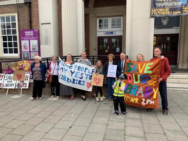 Campaigners - residents called for the libraries to be saved