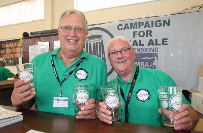 Clacton Beer festival.John Harris and Ron Londors.