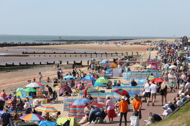 Clacton Air Show beach gets busy