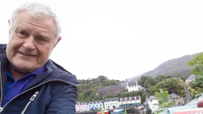 CROSS COUNTRY: Ian Perryman, 67, took 26 buses from Walton to the Isle of Skye