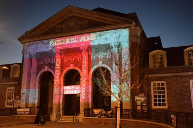 Clacton Town Hall was previously lit up in support of Help for Heroes' Stigma Clock campaign