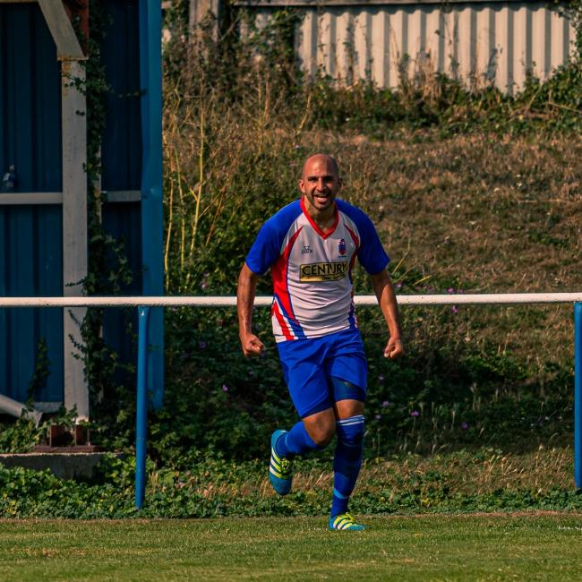 Chris Ribchester opened the scoring for FC Clacton in their 3-0 FA Vase win against Southend Manor. Picture: Rob Smith/RJS Photography