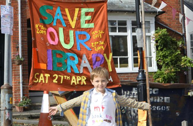 Library fan: Edward Walshaw, 5, at a Manningtree Library campaign