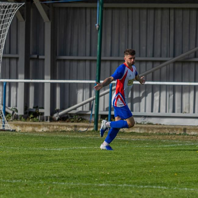 Man-of-the-moment: Jake Clowsley scored twice against Risborough and then notched twice against Whitton United. Picture: Rob Smith (RJS Photography)