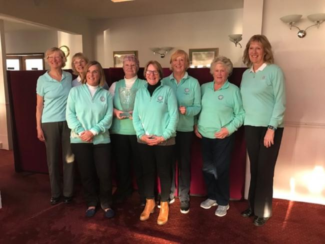 All smiles: Marilyn Clarke led Frinton's team of eight ladies to victory in the Coastal Belles trophy, played at Clacton Golf Club.