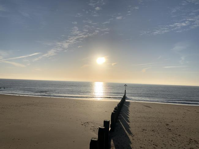 READER PICTURE: Sunrise over Frinton beach