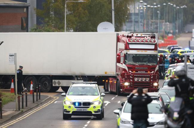 The lorry in Grays
