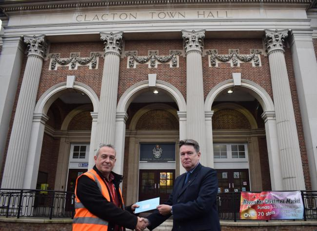 COUNTDOWN BEGINS: Tendring Council's acting returning officier Ian Davidson receives the writ for next month's General Election