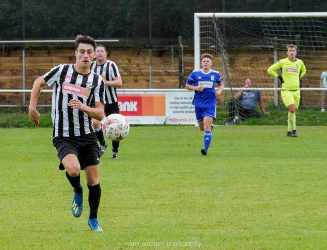Callum Vincent was on target for Halstead Town against Newbury Forest. Picture: Roger Cuthbert LRPS
