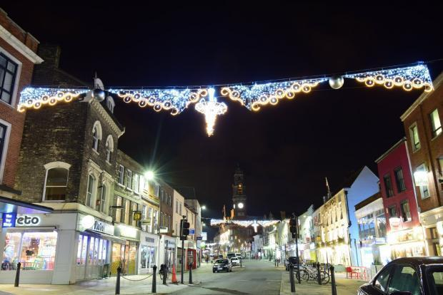 The Christmas lights in Colchester last year
