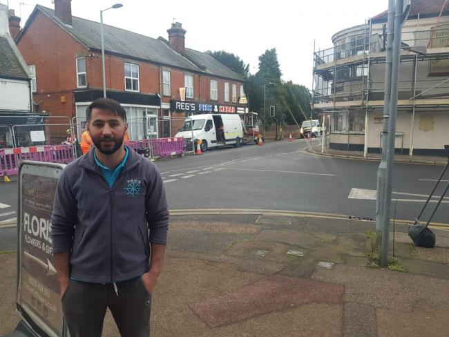 FRUSTRATED FRYER: Seyfi Can says he is being ignored over concerns for a dangerous junction outside his chip shop