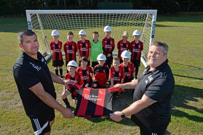 FRESH STRIP: a generous donation from Taylor Wimpey has helped Alresford Colne Rangers FC fund a new kit