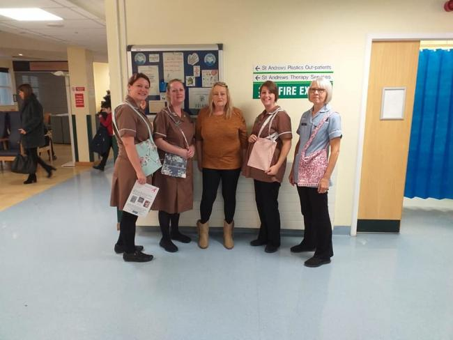 GREAT IDEA: Mrs Lyness has donated a second batch of 100 draing bags to Broomfield Hospital
