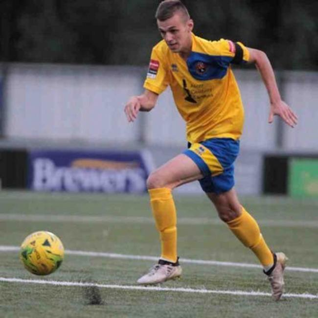 New signing: Jordan Blackwell has joined FC Clacton from Stanway Rovers.