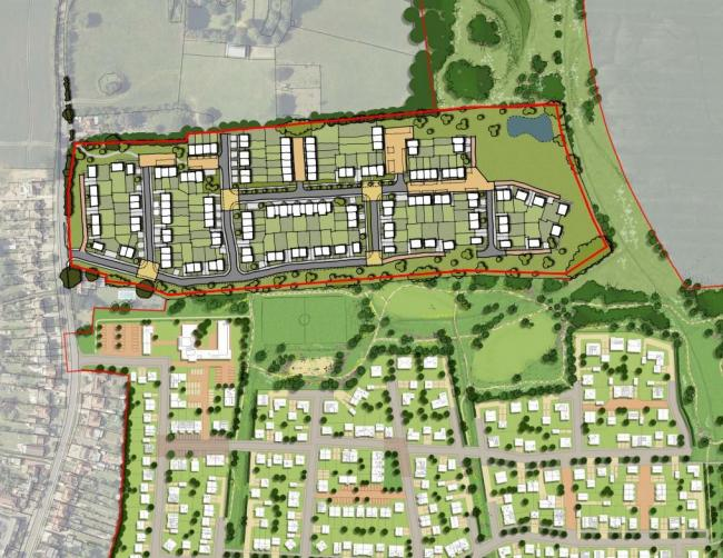 Blueprints - plans for 130 homes off Halstead Road, Kirby Cross