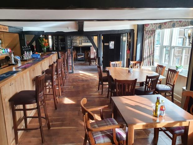 Clacton and Frinton Gazette: The bar area inside the Wooden Fender