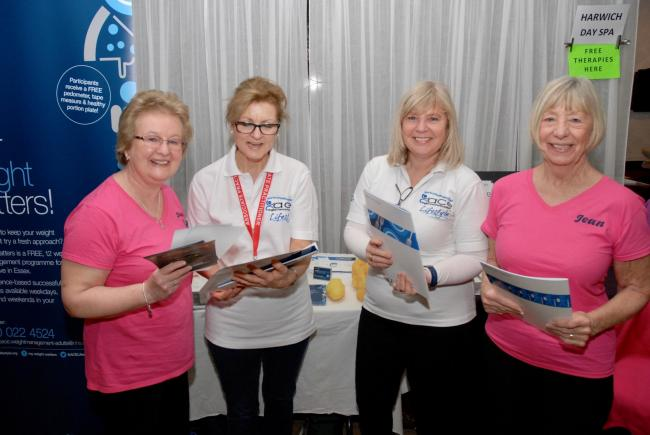 Healthy fun - exhibitors at last year's Health and Wellbeing Day