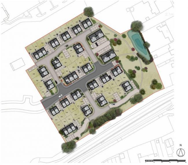 Plans - blueprints for 53 homes off Kirby Road, Walton