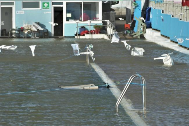 Cheryl Holland took these pictures of the flooding in Brightlingsea