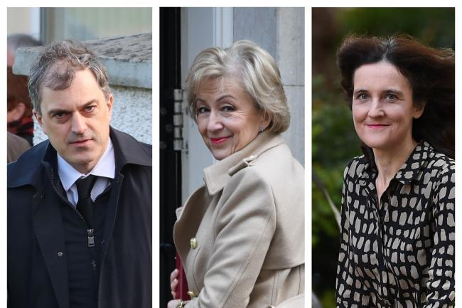 Julian Smith, Andrea Leadsom and Theresa Villiers. Picture PA