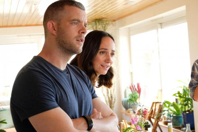 Russell Tovey as Jake and Lydia Leonard as Natalie. Picture: ITV/Silverprint Pictures