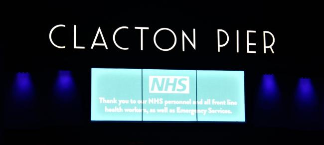 Resort landmark joins outpouring of support for NHS and care workers