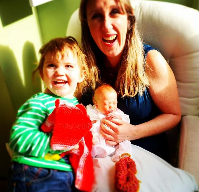 Happier times - Imogen Tinkler with daughters Xanthe and Bea