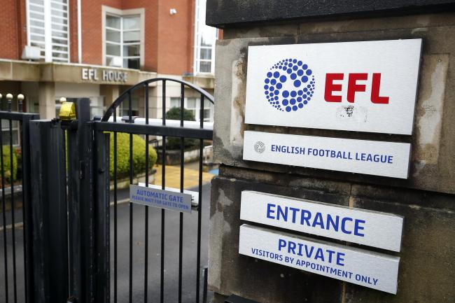 The EFL is treating a rescue package for its clubs as its top priority