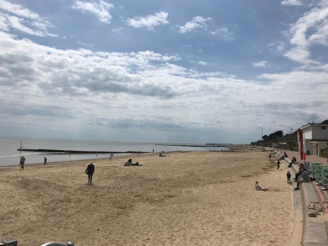 Quiet - Clacton's West beach on Saturday, May 16
