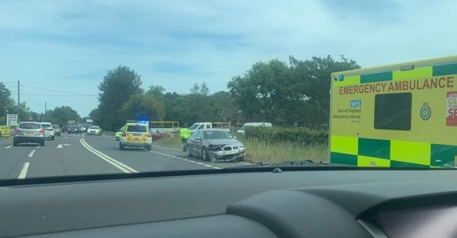 Accident involving five vehicles causing delays