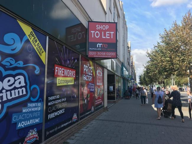 Closed - a number of big names shops have closed their doors in Clacton in recent years