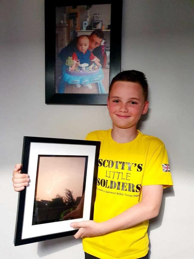 Striking picture: Harley Grout with his winning photo