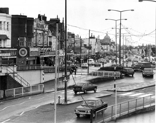 Clacton and Frinton Gazette: Pier Hill looking towards the Kursaal in the 1970s