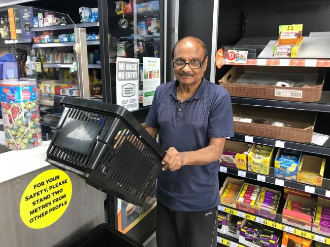 Brave - shopkeeper Indu Patel fought off a robber armed at the Premier shop in Coppins Road, Clacton