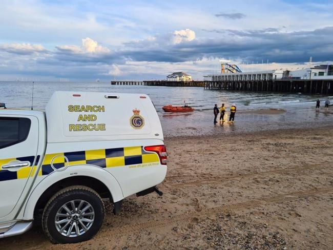 Rescue team: Two men were rescued from the sea close to Clacton Pier. Picture: Holmbrook Coastguard Rescue Team