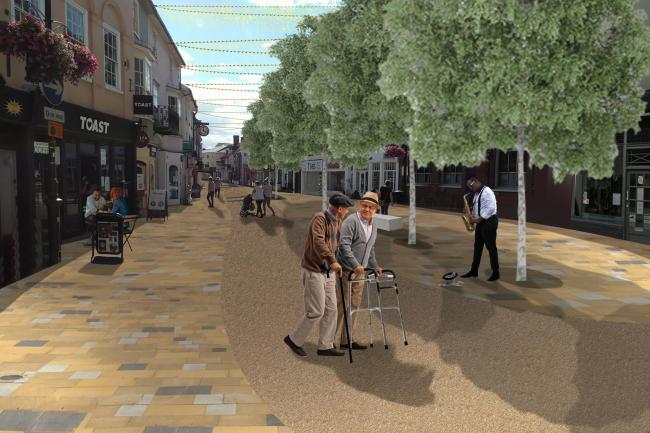 New images of Braintree town centre once it has been pedestrianised