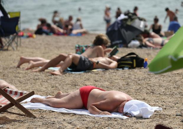 Clacton and Frinton Gazette: Taking in the rays