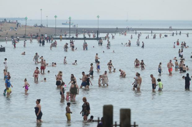 Clacton and Frinton Gazette: Taking a dip - at a social distance?
