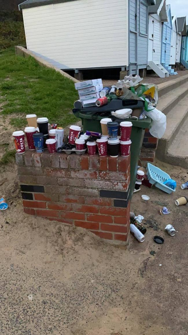 SHOCKING SIGHT: Residents were left horrified by mound of mess