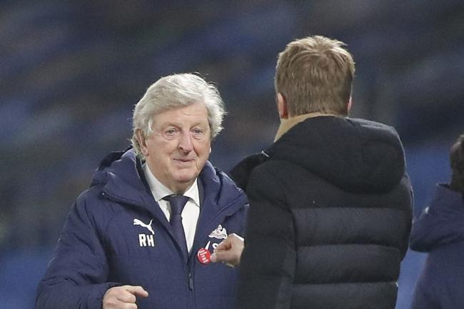 Crystal Palace manager Roy Hodgson, left, got the better of Brighton counterpart Graham Potter