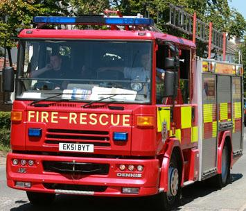 Firefighters cut two people free from overturned car near Weeley