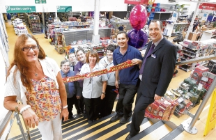Leaving bash – Lizi Ninnim is given a retirement send-off by work colleagues at the Range store