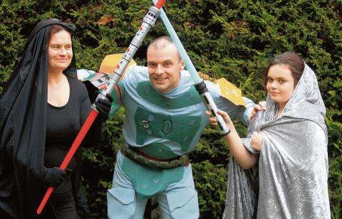 Star Wars walkers fulfil mum's dying wish