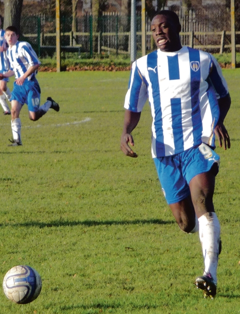 On target - Freddie Ladapo scored Colchester United under-21s' second goal in their 2-2 draw with Millwall.